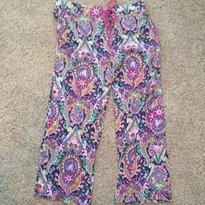 Cynthia Rowley gorgeous bright print pj bottoms